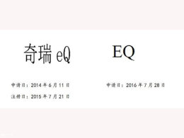 """此""""eQ""""非彼""""EQ"""" 奇瑞起诉奔驰商标侵权"""