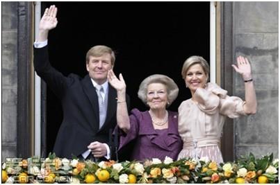 沃尔沃S80见证荷兰国王加冕
